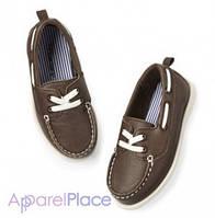 Carter's Топсайдеры коричневые на белом шнурке