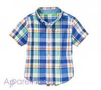 Gymboree Рубашка в сине-зеленую клетку