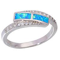 Огненный опал кольцо с опалом в серебре 16.5-17 размер, фото 1