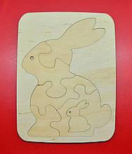 "Пазл-планшет з дерева ""Кролик"", 25/19 див."