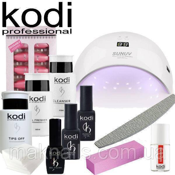 """Стартовый набор для покрытия ногтей гель лаком Kodi с лампой SUN 9S 24 w """"№9"""""""
