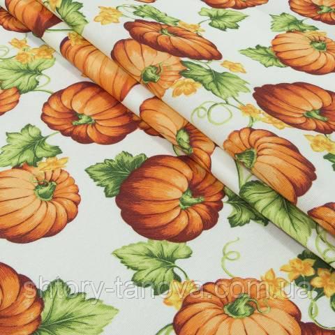 Декоративная ткань для штор, тыквы