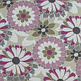 Декоративная ткань для штор, цветочный принт, розовый, фото 2