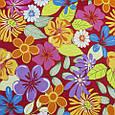 Декоративная ткань для штор, тропические цветы, фото 2