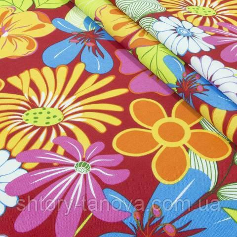 Декоративная ткань для штор, тропические цветы
