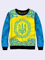 Свитшот женский с гербом Украины