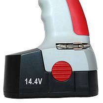 Шуруповерт аккумуляторный 14.4В, 1 аккумулятор, 1.2Ач, быстрозажимной патрон 0-10мм. INTERTOOL DT-03100, фото 3
