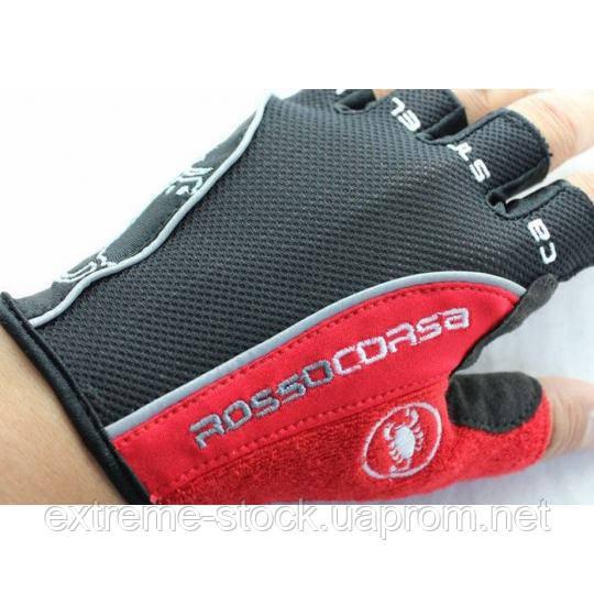 Велоперчатки Castelli черно-красный L