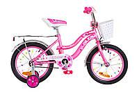 "Велосипед 16"" Formula FLOWER 14G рама-10"" St розовый с багажником зад St, с крылом St 2018"