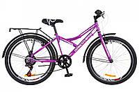 "Велосипед 24"" Discovery FLINT 14G Vbr рама-14"" St фиолетово-белый (м) с крылом Pl 2018"