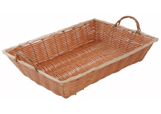 Хлебница прямоугольная 40х28 см. плетеная соломка