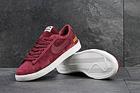 Мужские кроссовки Nike Supreme бордовые 3916