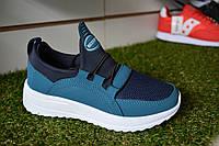 Детские кроссовки Nike мокасины синие с голубым, копия , фото 1