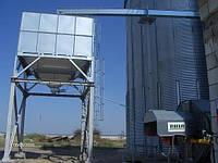 Бункер для зерна с выгрузочной воронкой для автомобильного транспорта