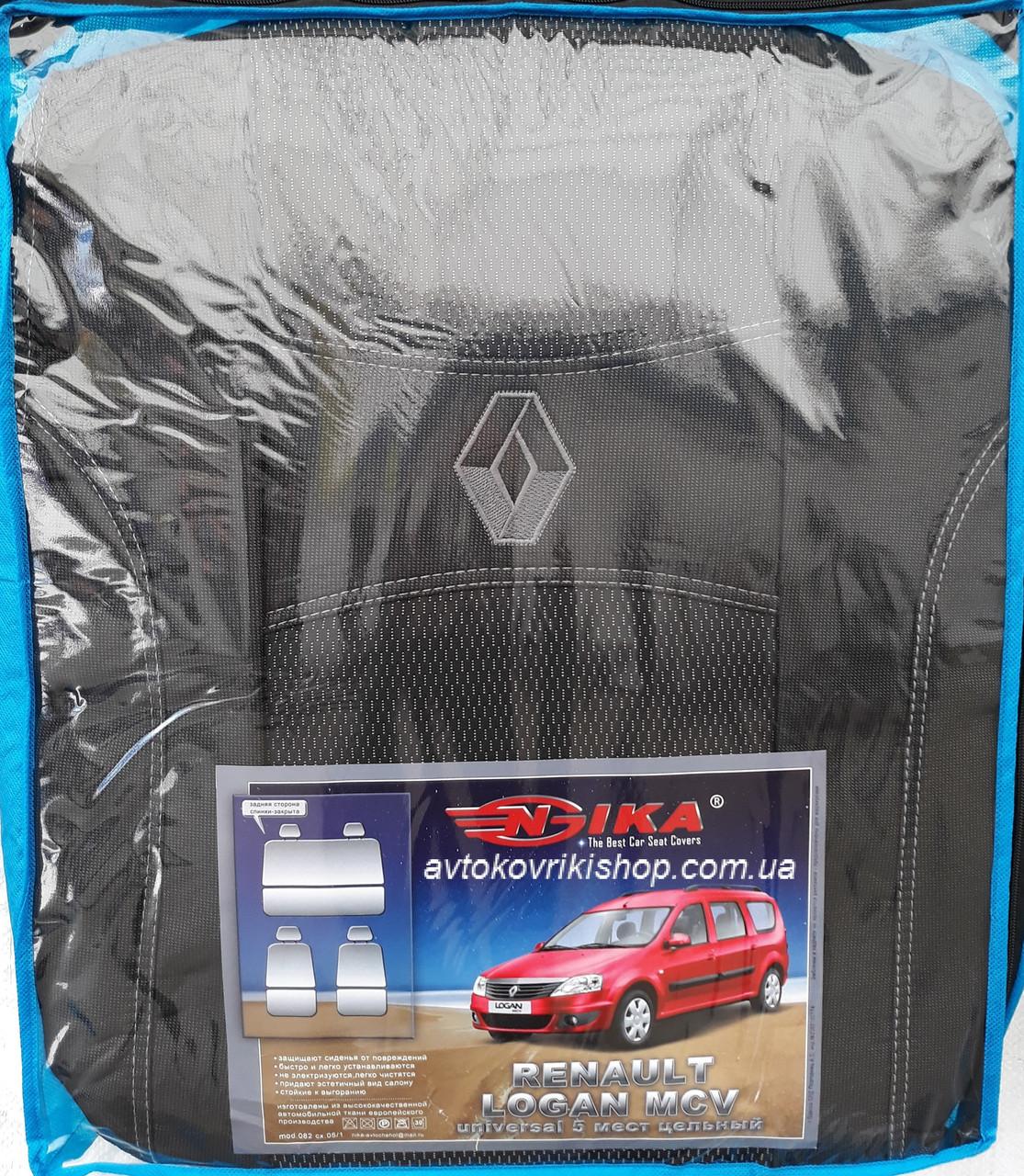 Авточехлы Renault Logan MCV 2009-2013 5 мест (цельная) Nika