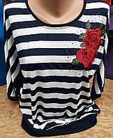 Женская красивая блузка с вышивкой