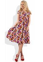 Пышное летнее платье с цветочным принтом Д-1118