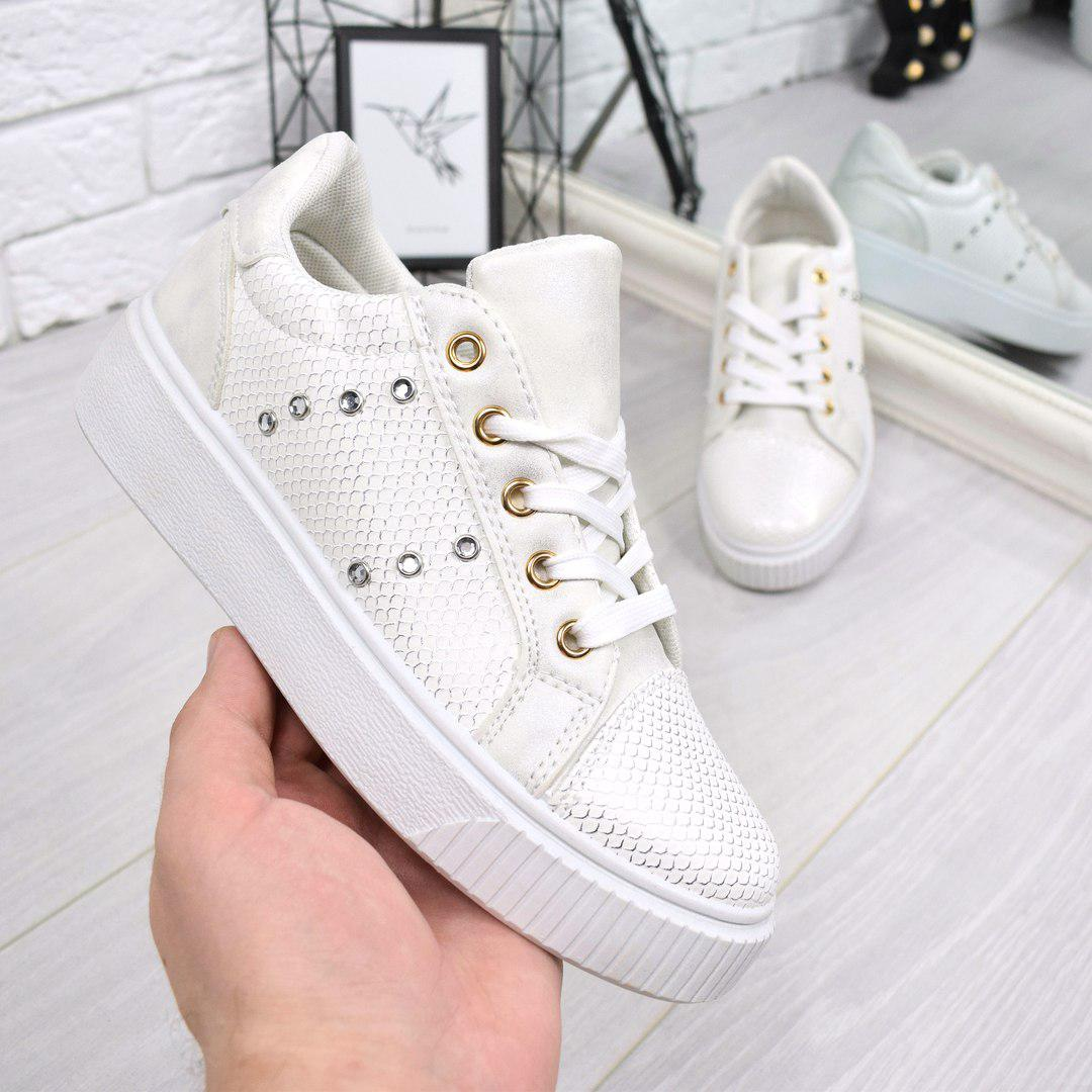 4892b249c68f Кроссовки криперы Fancy Белые, женская обувь - Интернет-магазин