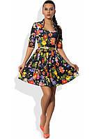 Летнее платье в цветочек Д-1120