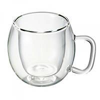 Чашка термо 75 мл., стеклянный с двойными стенками Bormiolli Luigi, Borgonovo