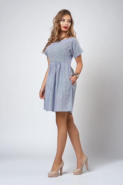 1ec09b474be6 Красивое летнее платье для девушек в полоску.Разные цвета.