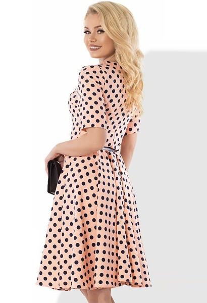 e585257a2ff Красивое летнее платье в горошек Д-1123  продажа