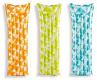 """Надувной матрас """"Мозаика"""", 183 х 69 см / Надувной матрац водный / Надувной матрас пляжный, фото 1"""