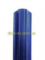 Металлический штакетник 113 мм , 108 мм  RAL 5005 (синий) 1-но сторонний 0,35 мм Китай, фото 1