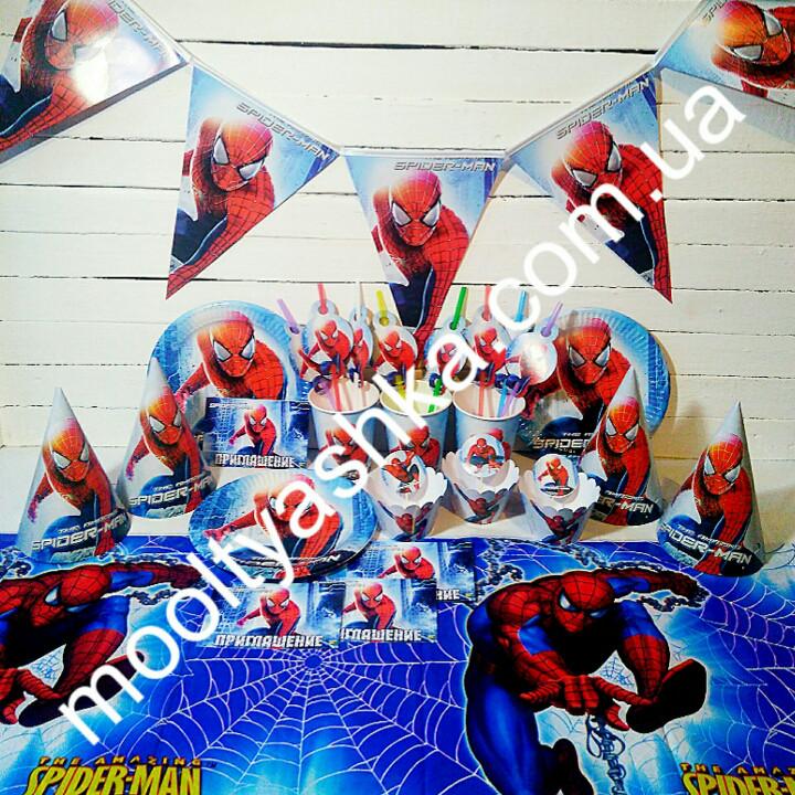 Набор для детского дня Рождения Человек Паук