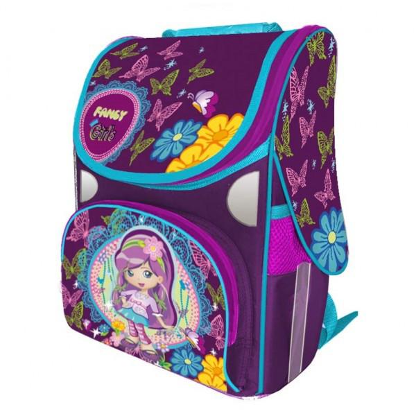 Рюкзак ранец школьный каркасный Fancy Girl RAINBOW