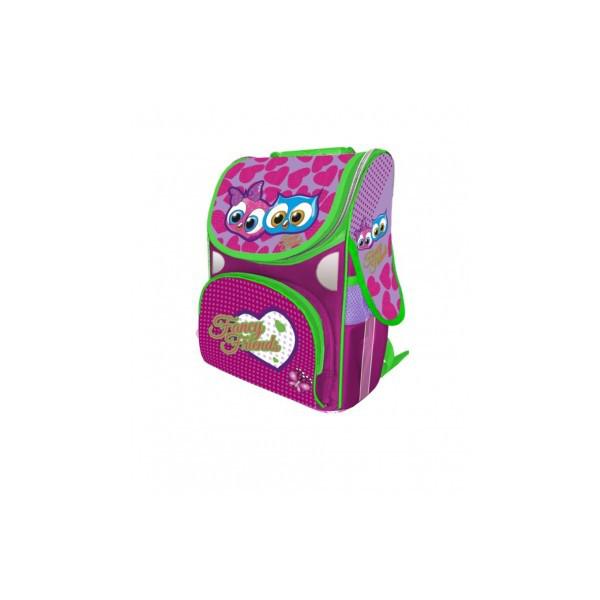 Рюкзак ранец школьный каркасный Fancy Owls RAINBOW 8-501