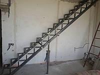 Каркас лестницы - прямой с площадкой , фото 1
