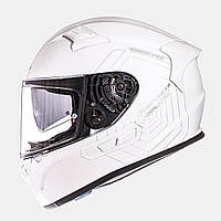 MT KRE SV Solid Gloss Pearl White, XS, Мотошлем интеграл