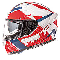 MT KRE SV RAD Gloss Pearl White Red Blue, XS, Мотошлем интеграл