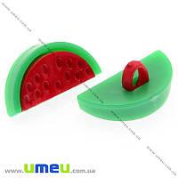 Пуговица пластиковая на ножке Арбузик, 20х10х8 мм, Красная, 1 шт. (PUG-008955)