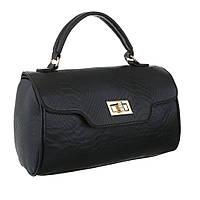 Маленькая сумка ранец из экокожи под рептилию (Европа) Черный
