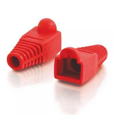 Изолирующий колпачок LogicPower RJ45 100 шт Red (LPCP5RD)