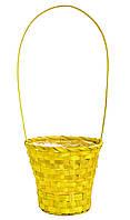 Корзина из лозы 44 х 20 см желтая