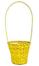 Кошик з лози 44 х 20 см жовта