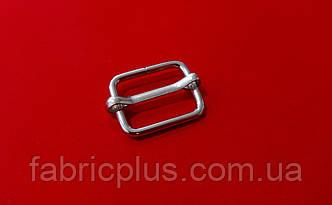 Пряжка передвижка 20 мм (2,4(d)х14 мм(h), никель