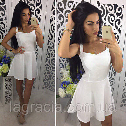 Летнее легкое белое платье - сарафан, фото 2
