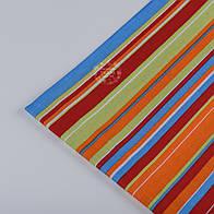 Лоскут ткани №191 бязь с разноцветными полосками
