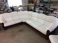 Мягкий кожаный уголок + кресло