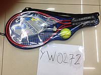 Теннис YW0272 30шт 2 ракетки  мяч, в чехле 52 см