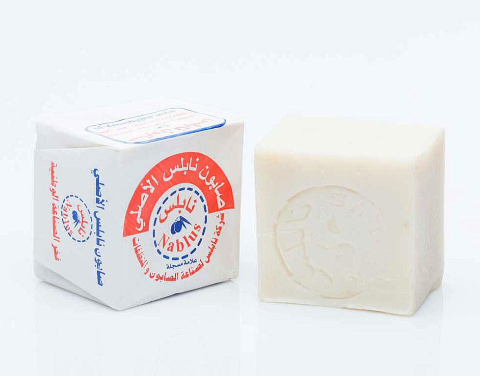Уценка - органическое оливковое мыло Nablus Pure, 110g. (вощеная бумага), Палестина