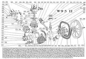 Запчасти к поршневому компрессору W95