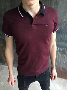 Мужская футболка Tommy Hilfiger.Бардо