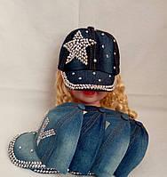Кепка для девочки джинс  р 48-50