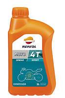 REPSOL 4T MOTO SPORT 10W40 1л четырехтактное масло полусинтетическое