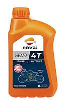 REPSOL 4T MOTO SINTETICO 10W40 1л  четырехтактное масло синтетическое